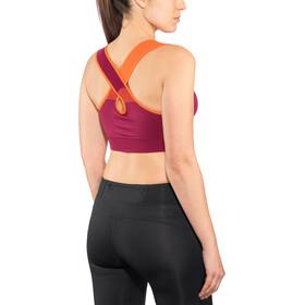 La Sportiva Focus T-shirt zippé Femme, beet/lily orange